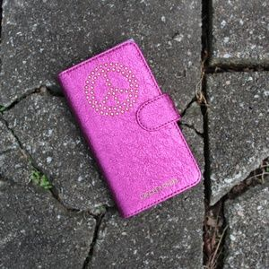 Michael Kors Pink Sparkly Phone Case
